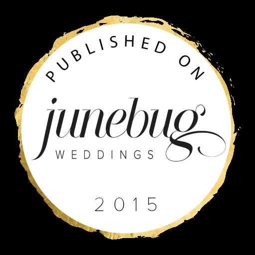 junebug weddings published on badge 2015
