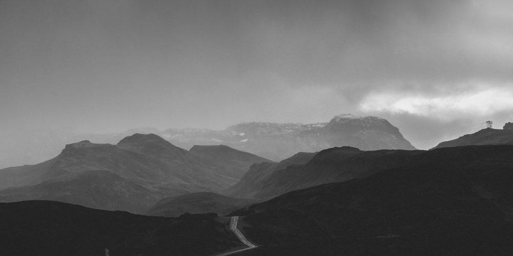 GLOOMY ROAD. ICELAND