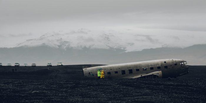 DC 3 PLANE. ICELAND