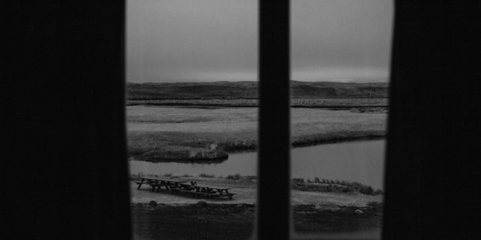 A VIEW FROM THE WINDOW. ICELAND
