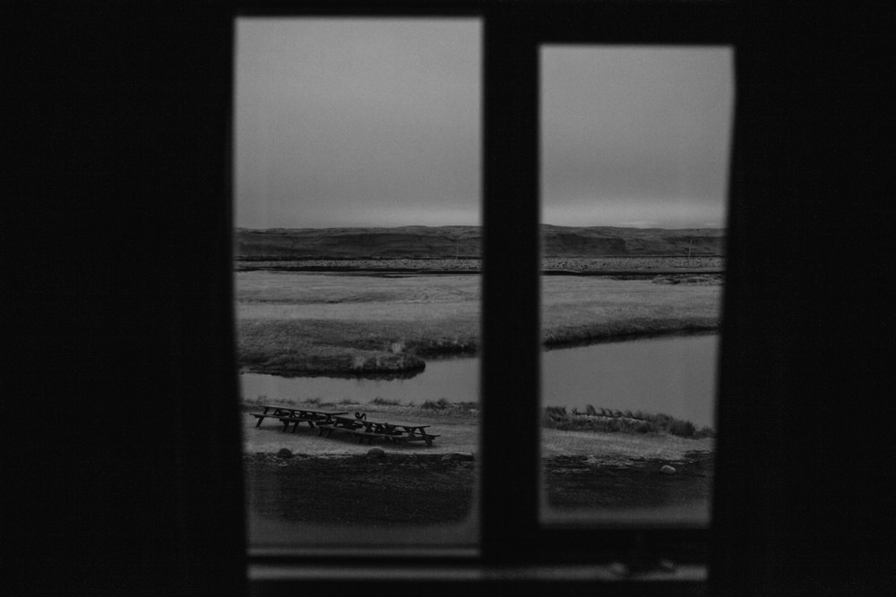 View from the window. Iceland