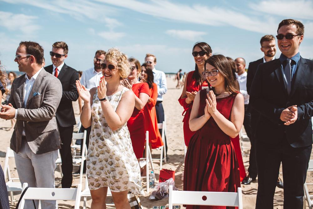 polsko-hinduski slub na plazy