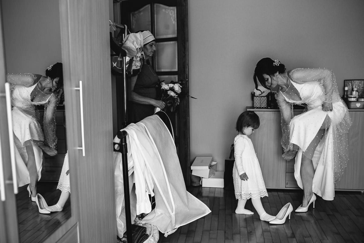 czarno-biały reportaż ślubny